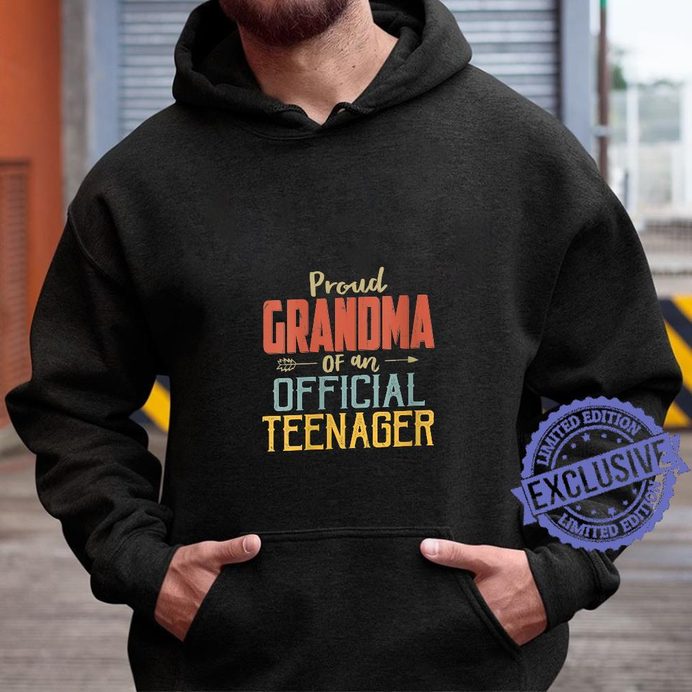 Womens Proud Grandma Of Officialnager 13Th Birthday 13 Yrs Old Shirt hoodie