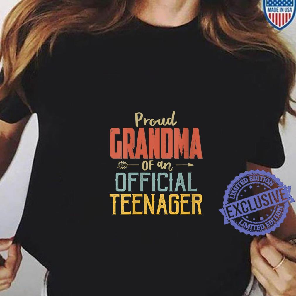 Womens Proud Grandma Of Officialnager 13Th Birthday 13 Yrs Old Shirt ladies tee