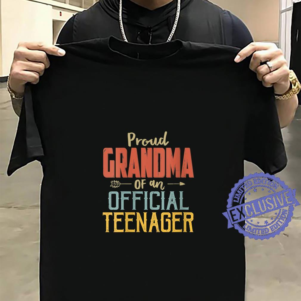 Womens Proud Grandma Of Officialnager 13Th Birthday 13 Yrs Old Shirt sweater