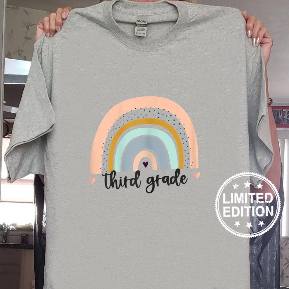 Womens Rainbow Teacher Shirt Third Grade Level Teacher Shirt