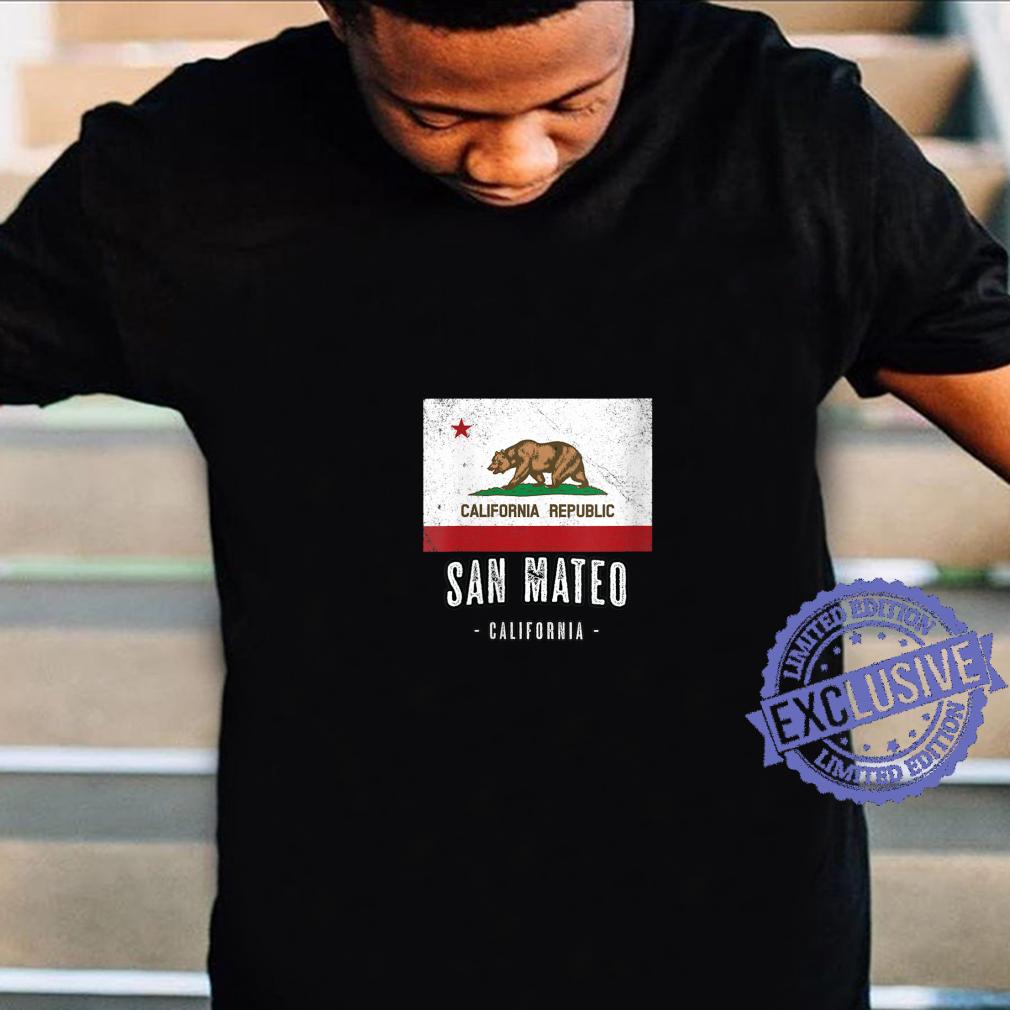 Womens SAN MATEO California Cali City Souvenir CA Flag Top Shirt