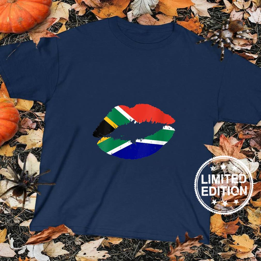 Womens South Africa Flag Lips Kiss Pride South African Roots Girls Shirt sweater
