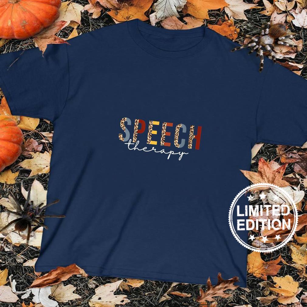 Womens Speech Therapy Leopard Speech Language Pathology Month SLP Shirt sweater