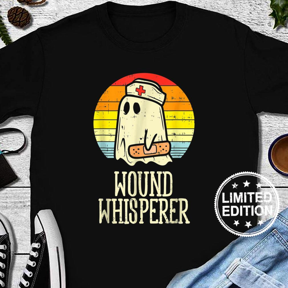 Wound Whisperer Ghost Nurse Boo Halloween 2021 Nursing Rn Shirt long sleeved