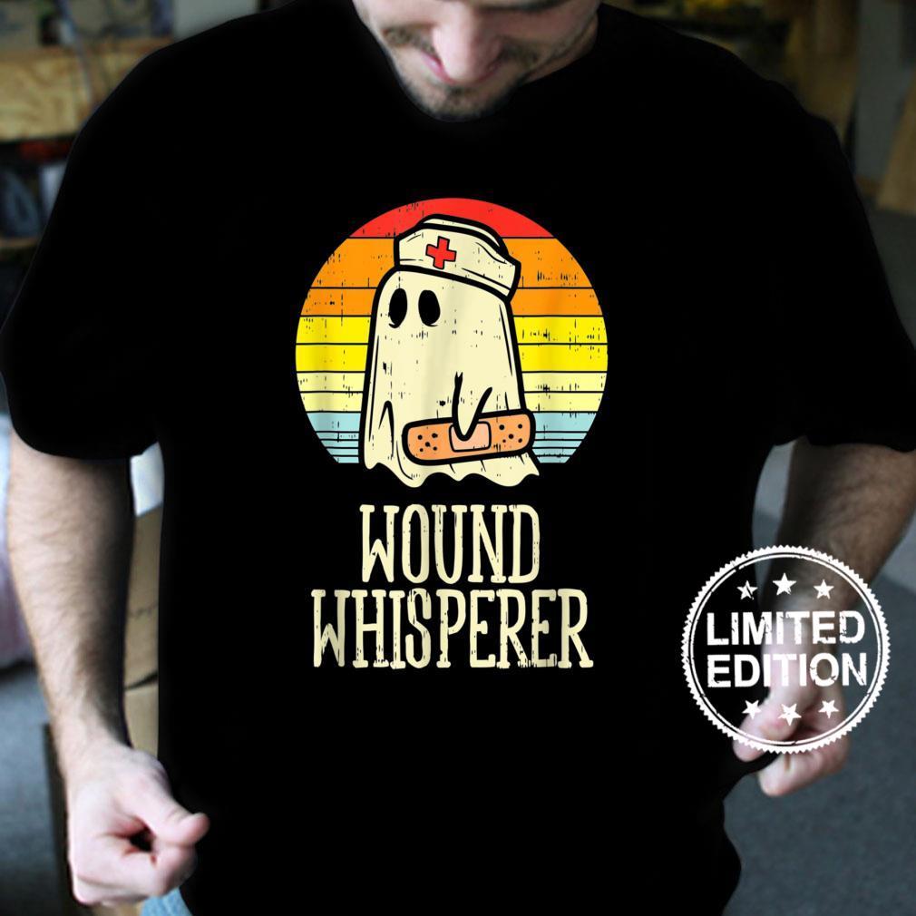 Wound Whisperer Ghost Nurse Boo Halloween 2021 Nursing Rn Shirt
