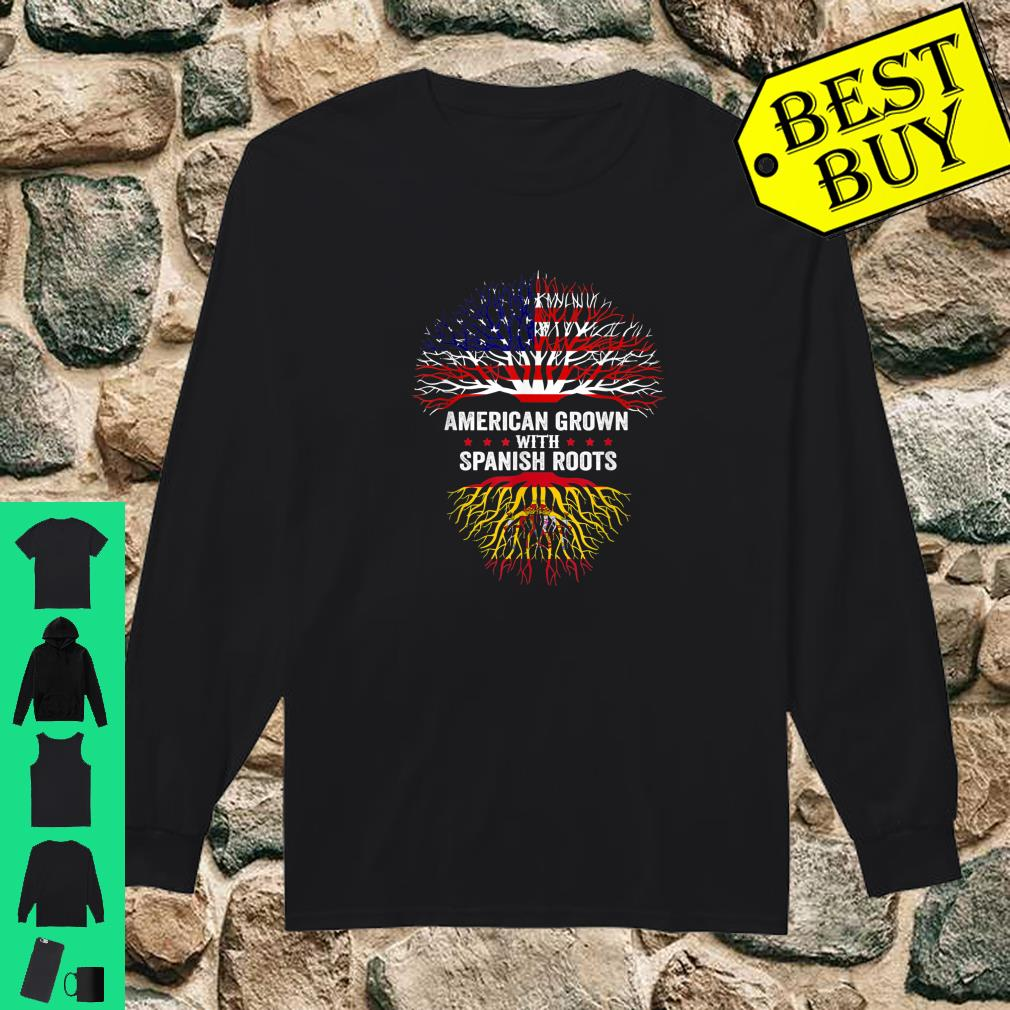American Grown with Spanish Roots - Spain Flag Shirt long sleeved