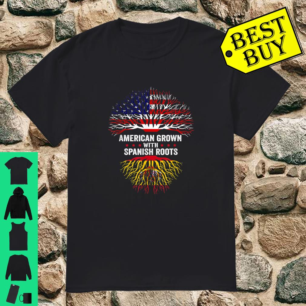 American Grown with Spanish Roots - Spain Flag Shirt
