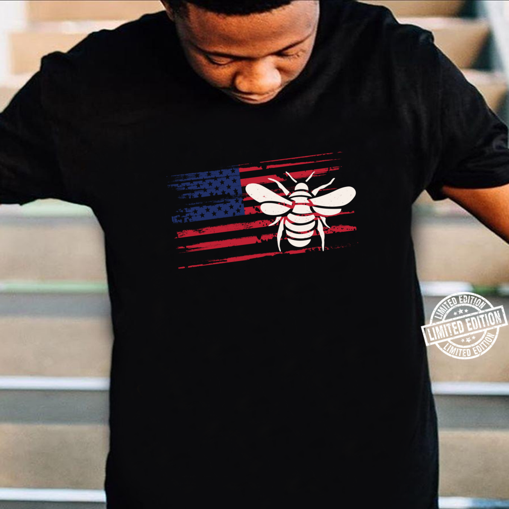 Bee US American Flag Wasp 4th Of July Ant Insect USA Shirt