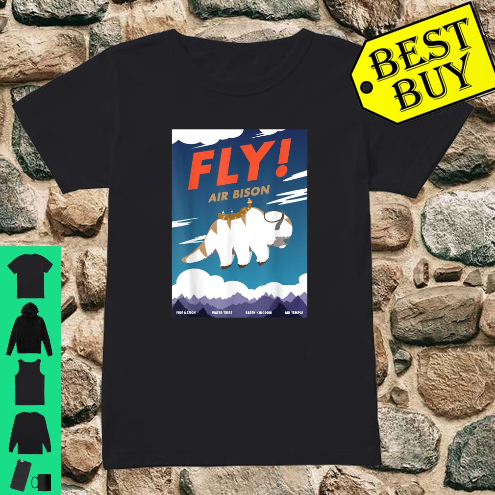 Bison Airline Poster Fly Air Bison Shirt ladies tee