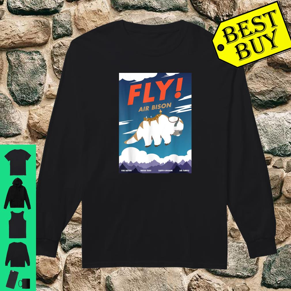 Bison Airline Poster Fly Air Bison Shirt long sleeved