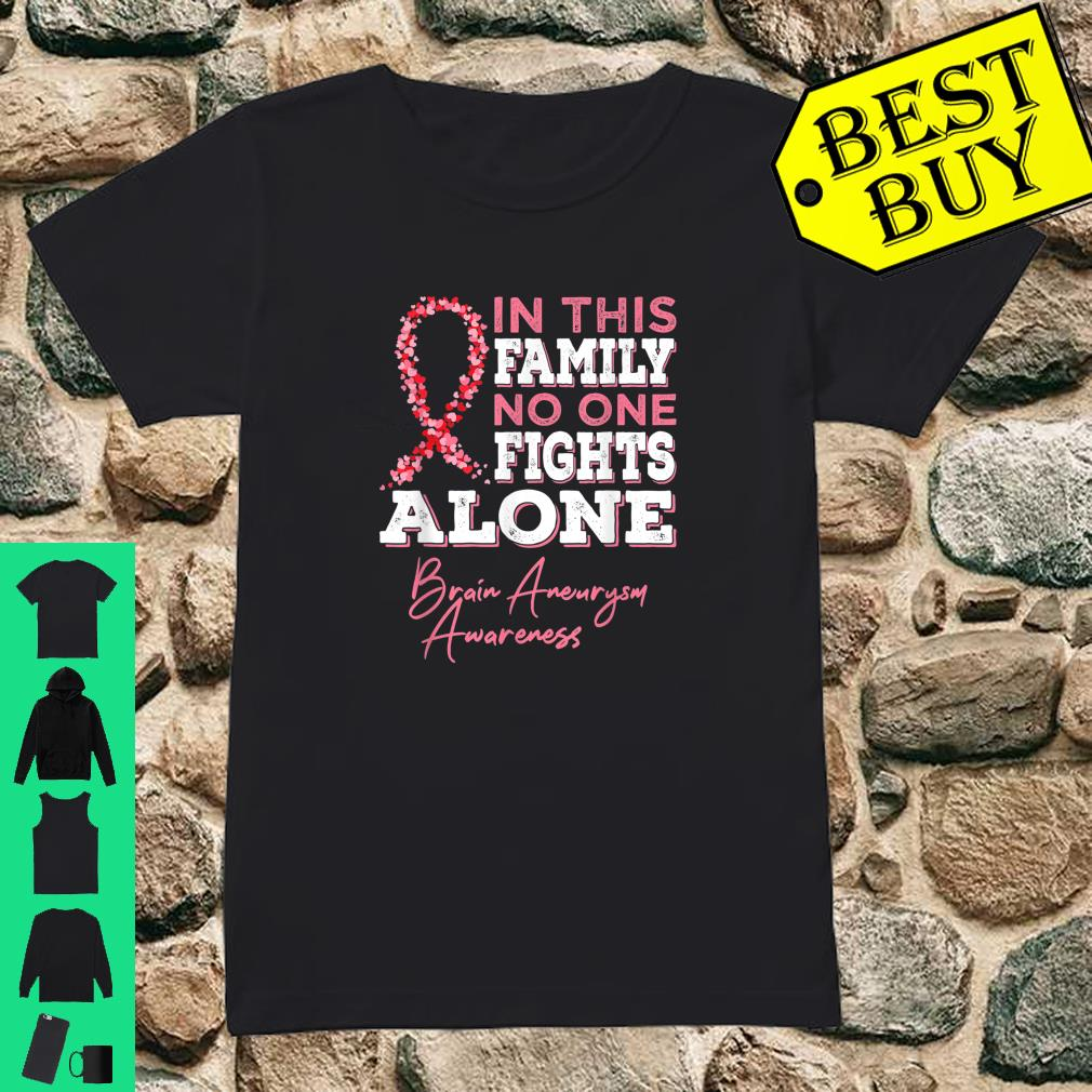 Brain Aneurysm Awareness In this family No one fights alone shirt ladies tee