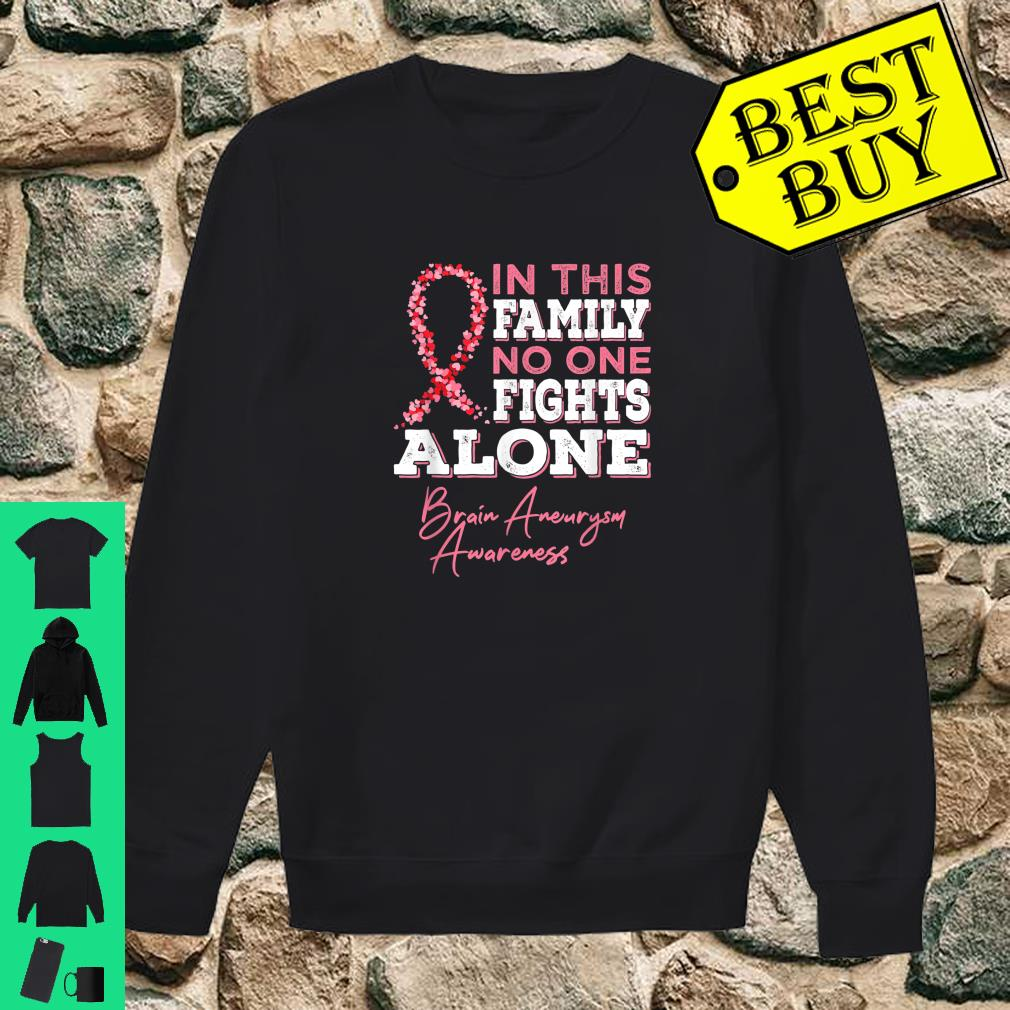 Brain Aneurysm Awareness In this family No one fights alone shirt sweater