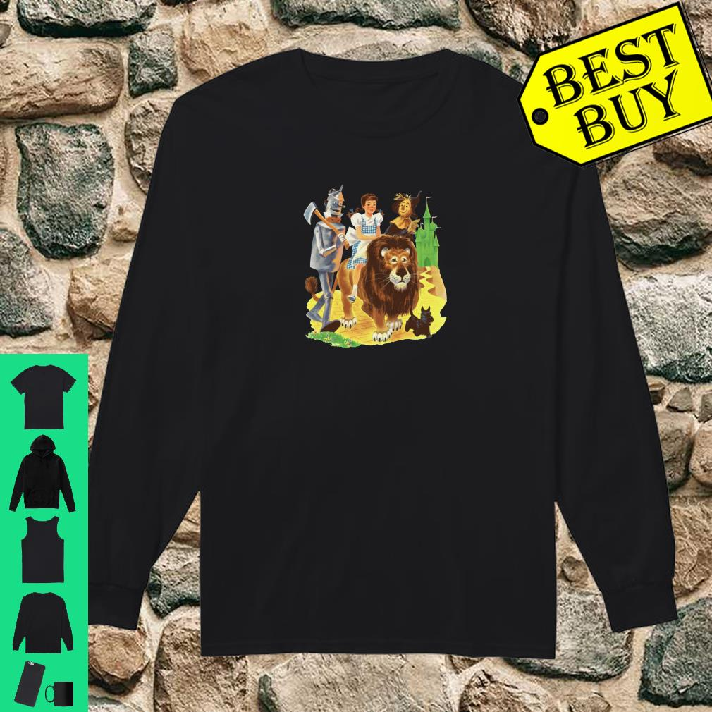 Brick Road Emerald City of Oz Tin Man Lion Scarecrow Dorothy Pullover Shirt long sleeved
