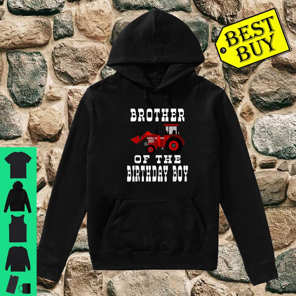 Brother of the Birthday Boy Red Tractor Matching Party Shirt hoodie