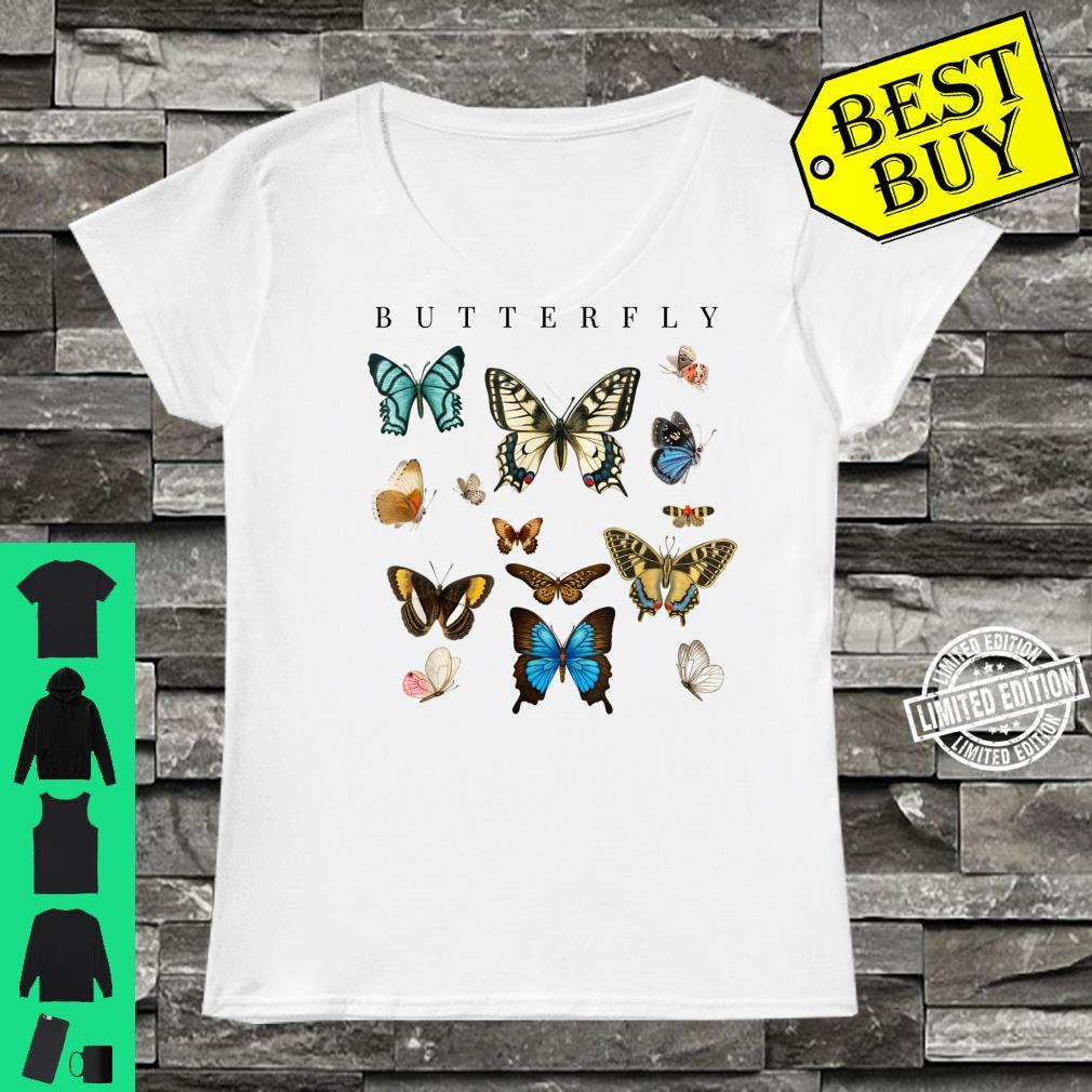 Butterfly Butterflies Botanical Boho Monarch Summer Insect Shirt ladies tee