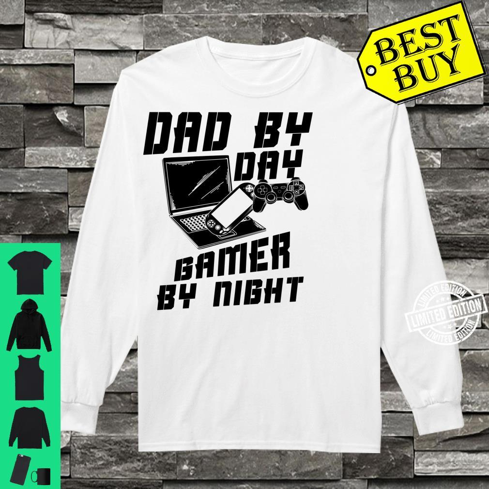 Dad By Day Gamer By Night Game Father's Day Shirt long sleeved