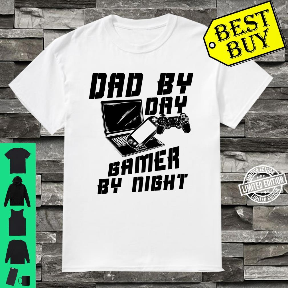 Dad By Day Gamer By Night Game Father's Day Shirt