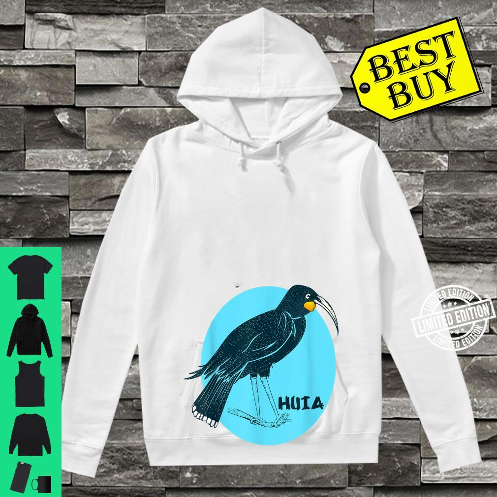 Huia New Zealand Bird Shirt hoodie