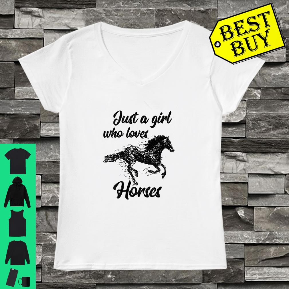 Just A Girl Who Loves Horses Shirt ladies tee