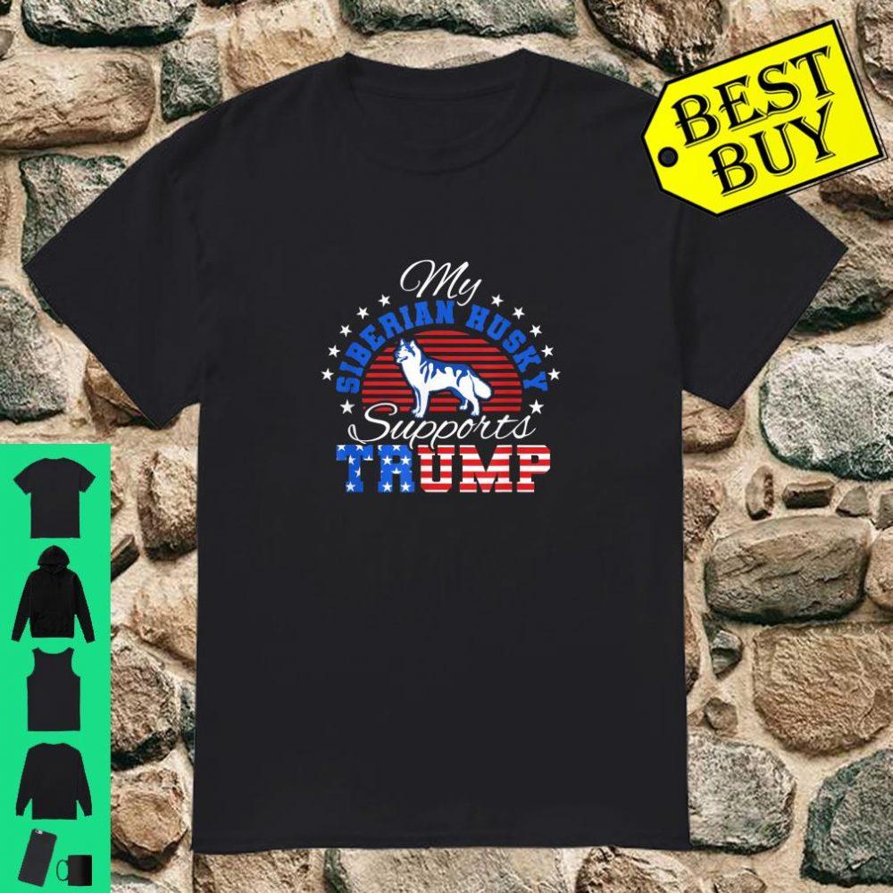 My Siberian Husky Supports Trump 2020 Love Trump shirt