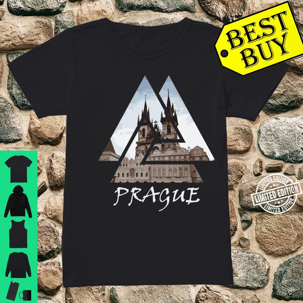 Old Town Square Prague Geometric, Czech Travel Shirt ladies tee