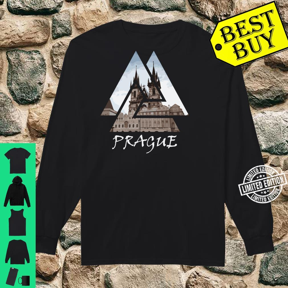 Old Town Square Prague Geometric, Czech Travel Shirt long sleeved