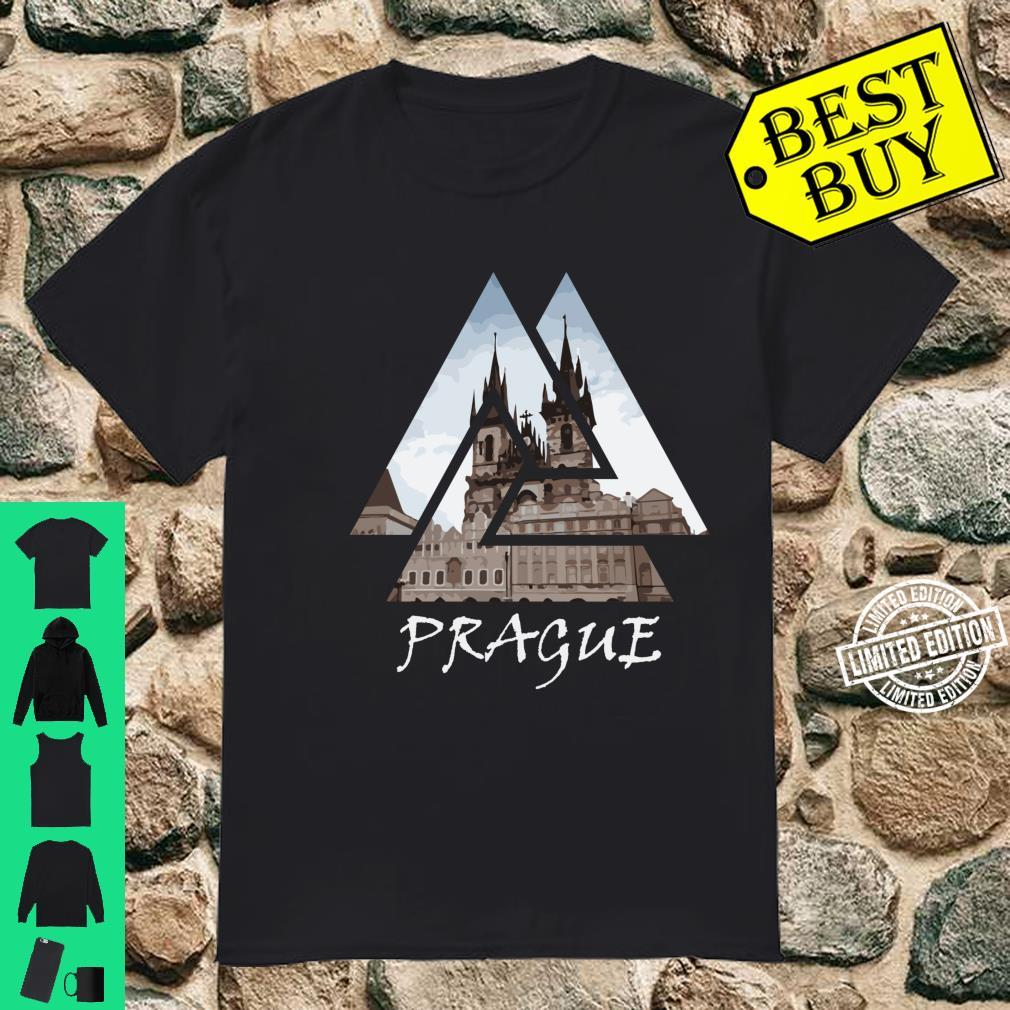 Old Town Square Prague Geometric, Czech Travel Shirt