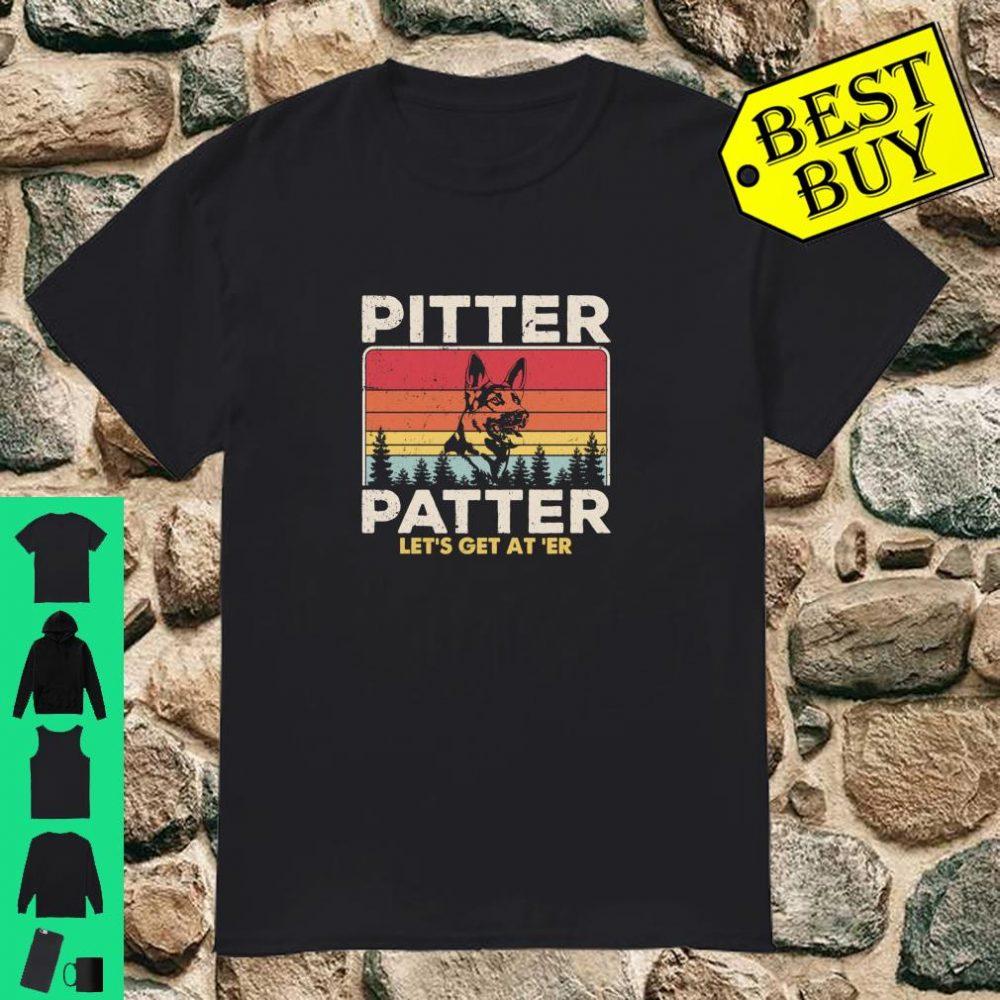Pitter Patter German Shepherd Dog Vintage Retro shirt