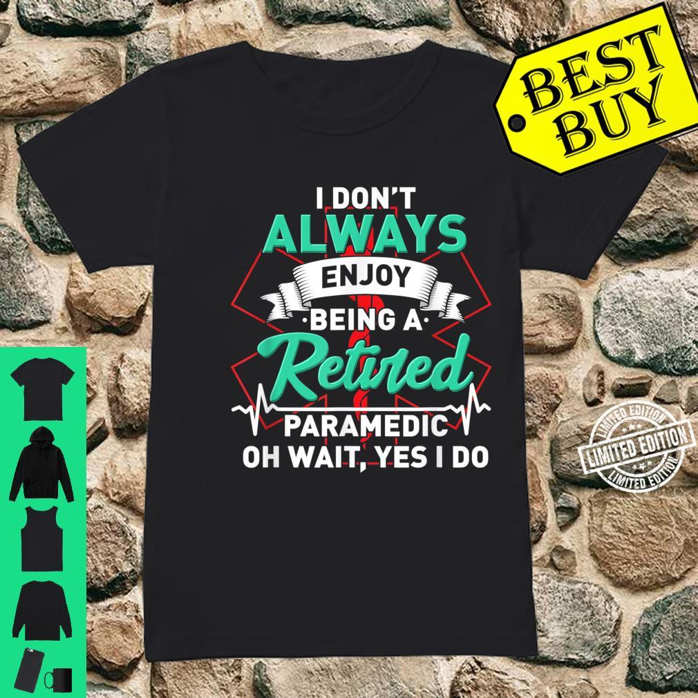 Retired Paramedic For First Responder Shirt ladies tee