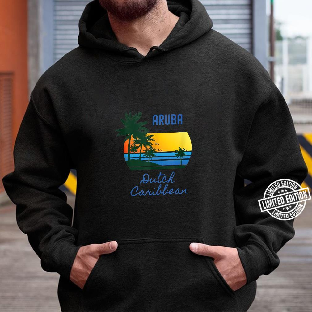 Retro Cool Aruba Original Caribbean Beaches Novelty Art Shirt hoodie