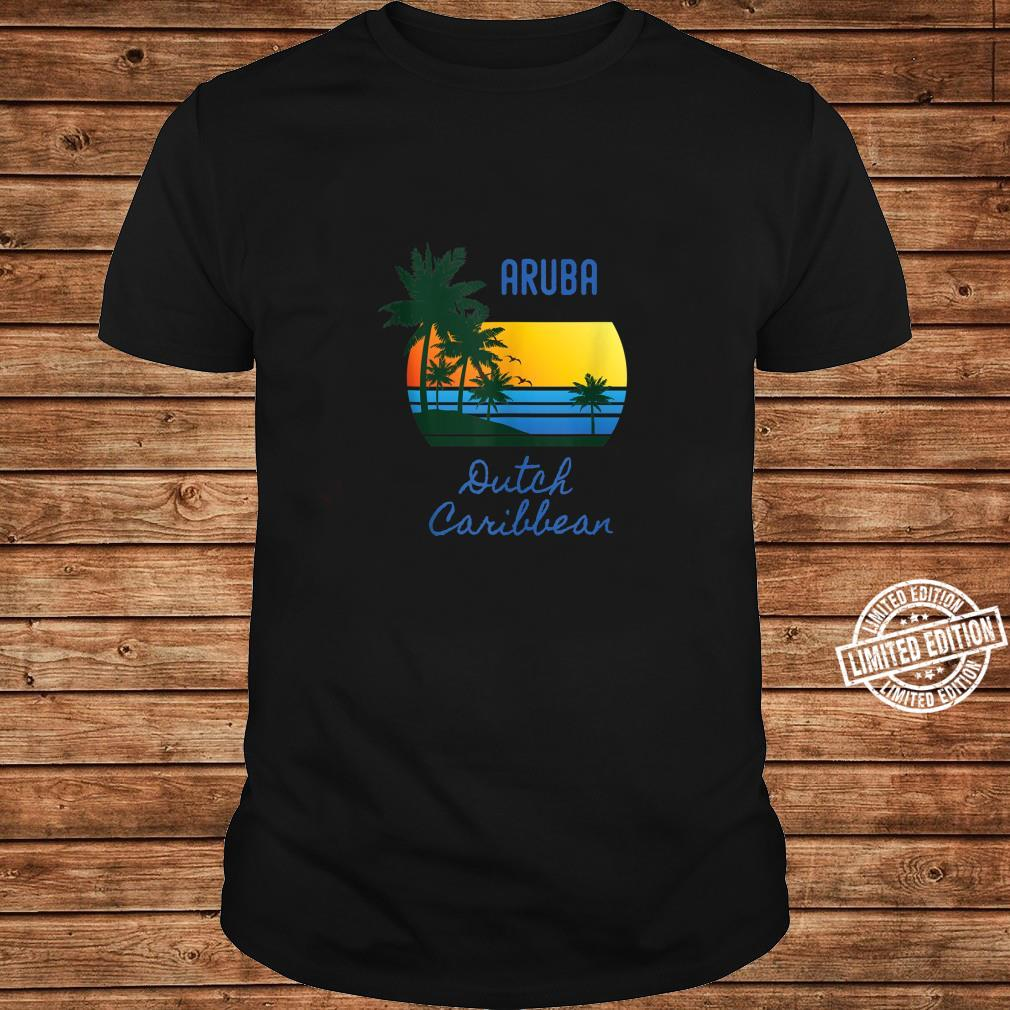 Retro Cool Aruba Original Caribbean Beaches Novelty Art Shirt long sleeved