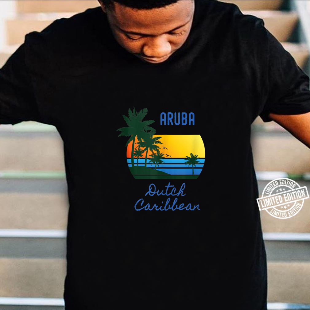 Retro Cool Aruba Original Caribbean Beaches Novelty Art Shirt