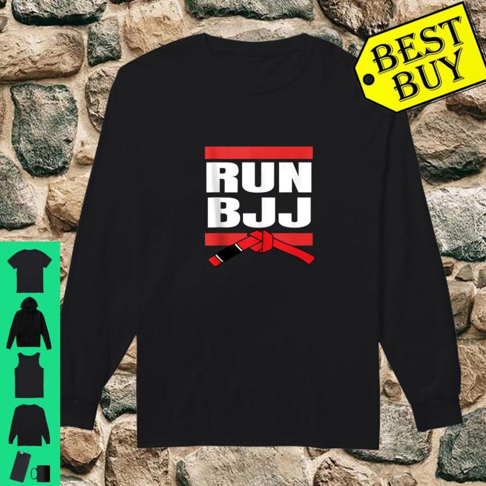 Run BJJ Hip Hop Rap MMA Grappling Gifts For Jiu Jitsu shirt long sleeved