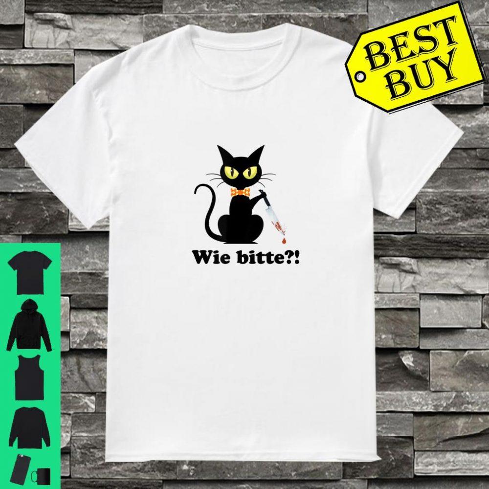 Schwarze Katze, Mörderische Katze mit Wie Bitte Shirt