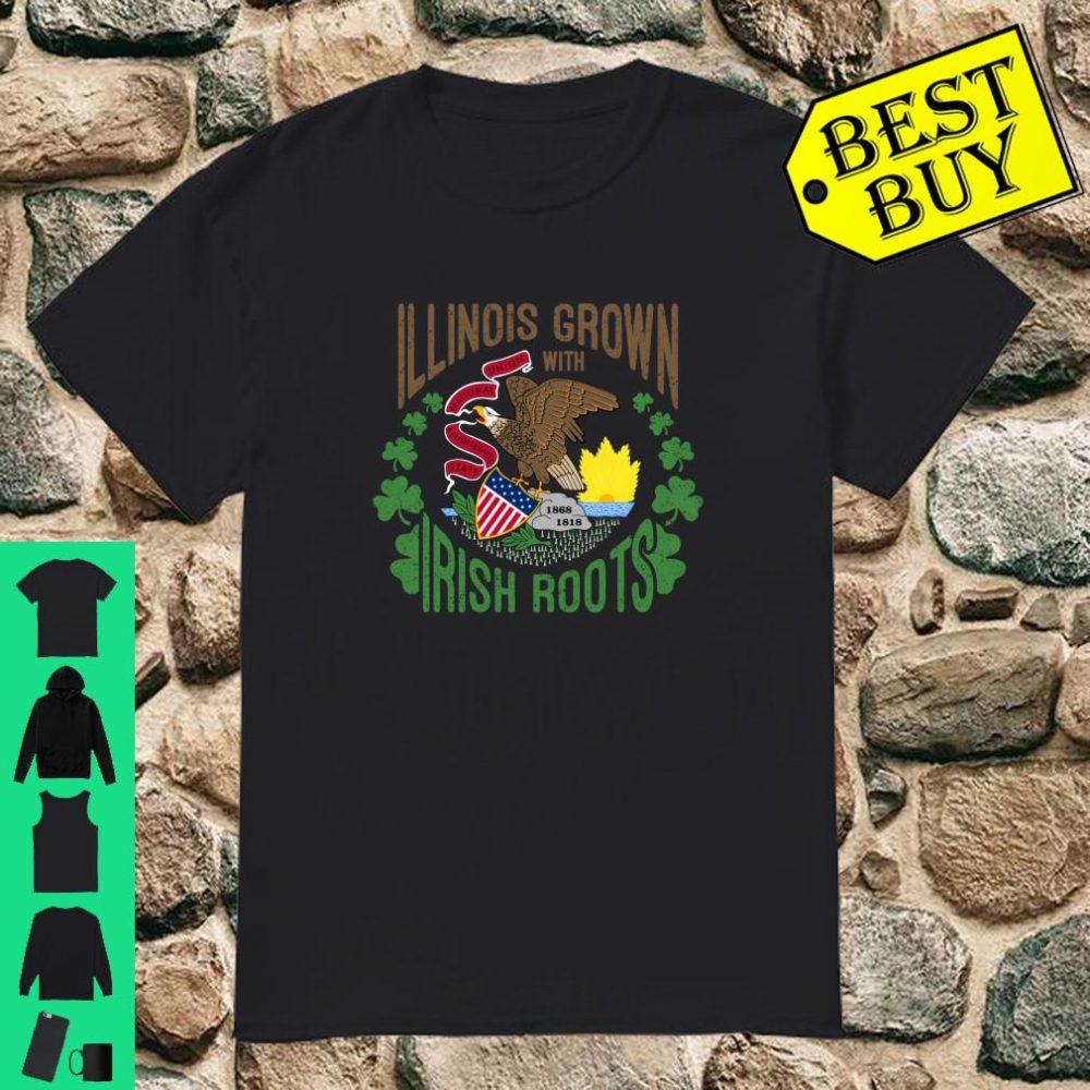 St. Patrick's Day Irish Illinois Grown Irish Roots Shamrock shirt