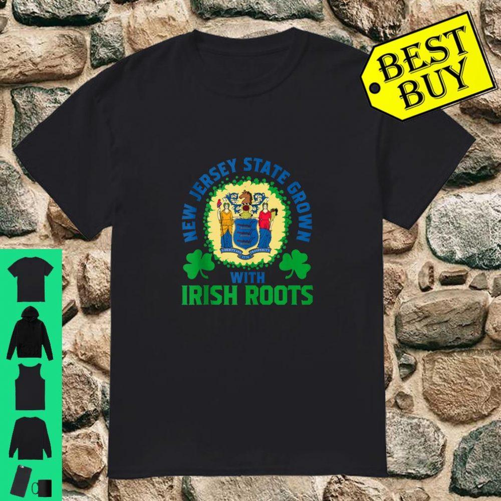 St. Patrick's Paddys Day Irish Green Shamrock Lover New Jersey State Grown With Irish Roots shirt