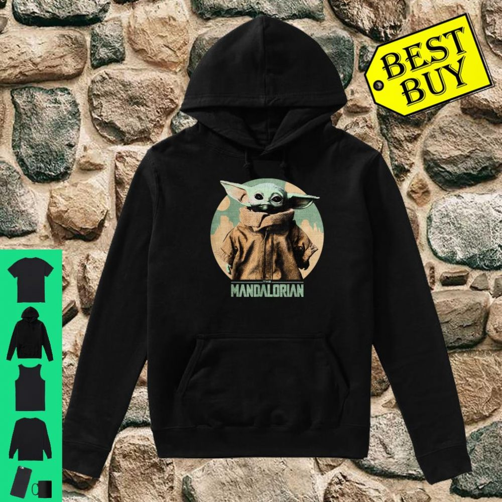 Star Wars Baby Yoda The Mandalorian The Child Faded Portrait shirt hoodie