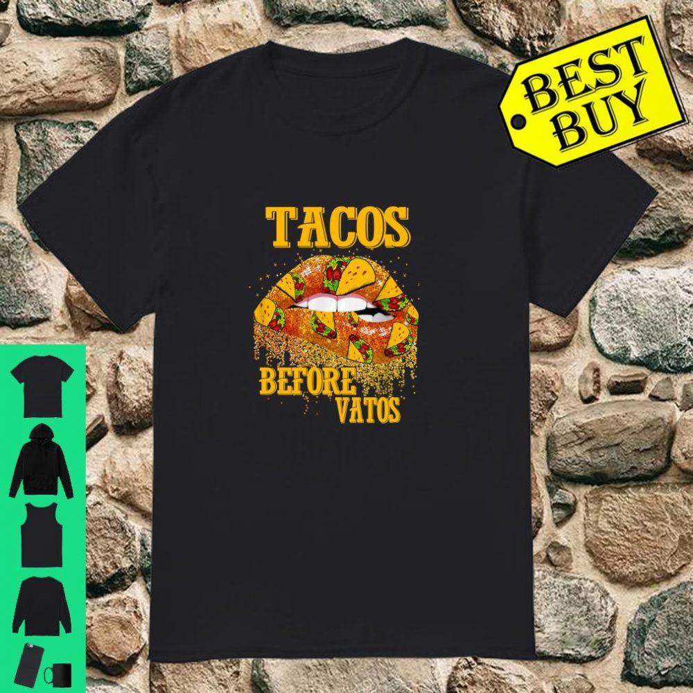 Tacos Before Vatos Shirt Valentine's Day Feminist Taco Shirt