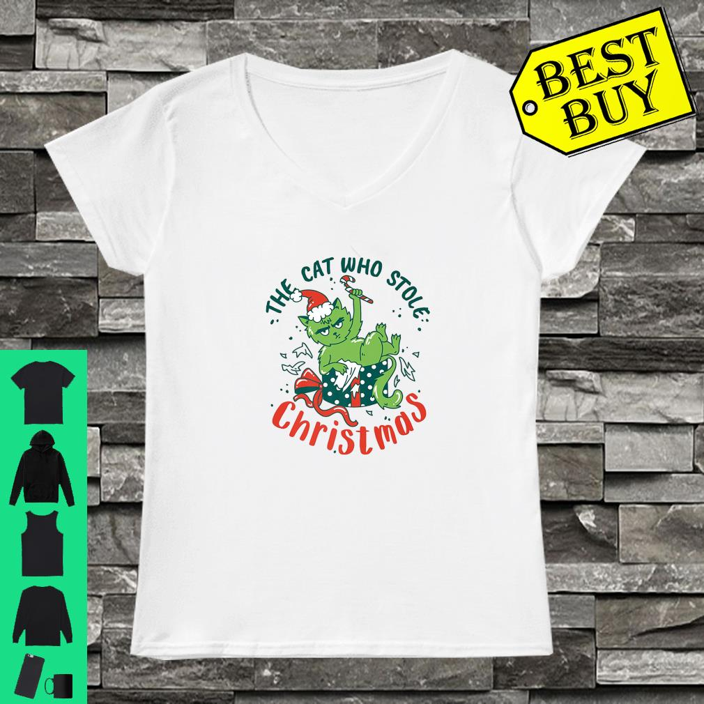 The Cat Who Stole Christmas 2019 shirt ladies tee