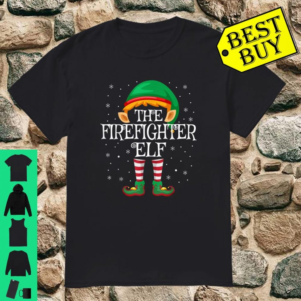 The Firefighter Elf Family Matching Group Christmas shirt