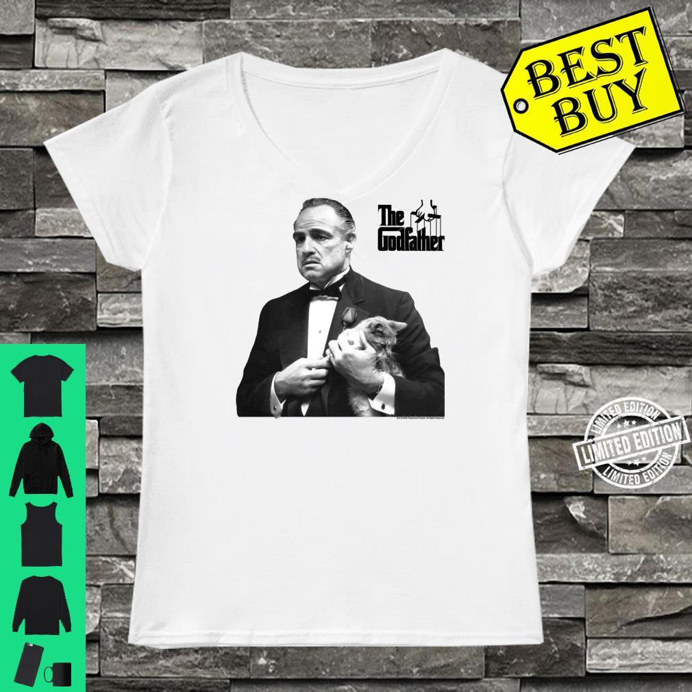 The Godfather, The Don with Cat White Shirt ladies tee