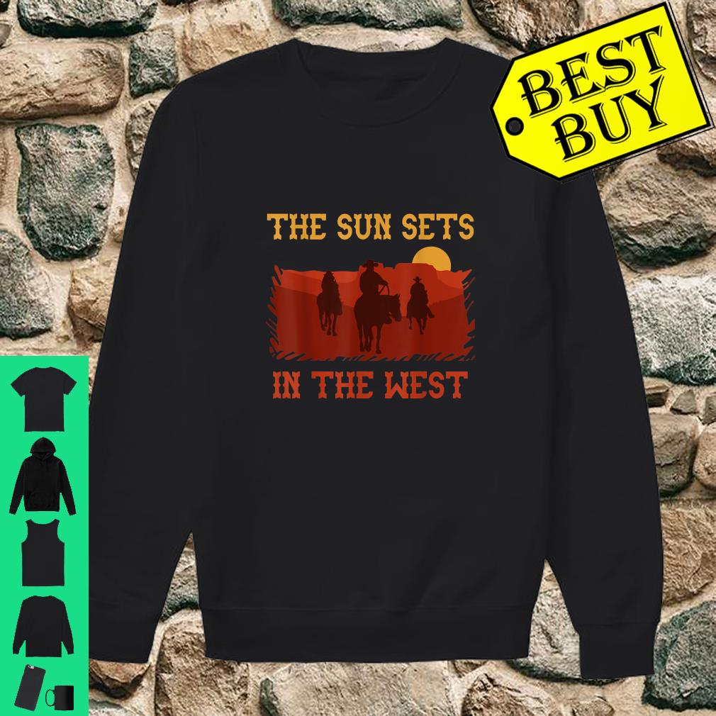 The Sun Sets in the West Cowboy Horses Sunset Western shirt sweater