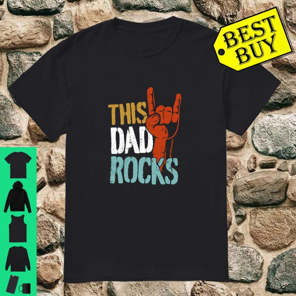 This Dad Rocks for cool Father Rock n Roll Heavy Metal Shirt