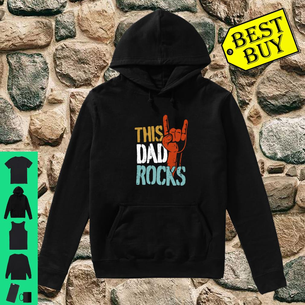 This Dad Rocks for cool Father Rock n Roll Heavy Metal Shirt hoodie