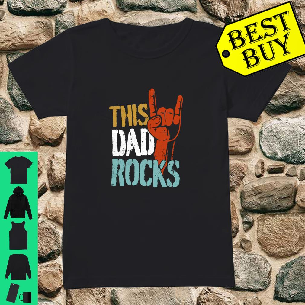 This Dad Rocks for cool Father Rock n Roll Heavy Metal Shirt ladies tee