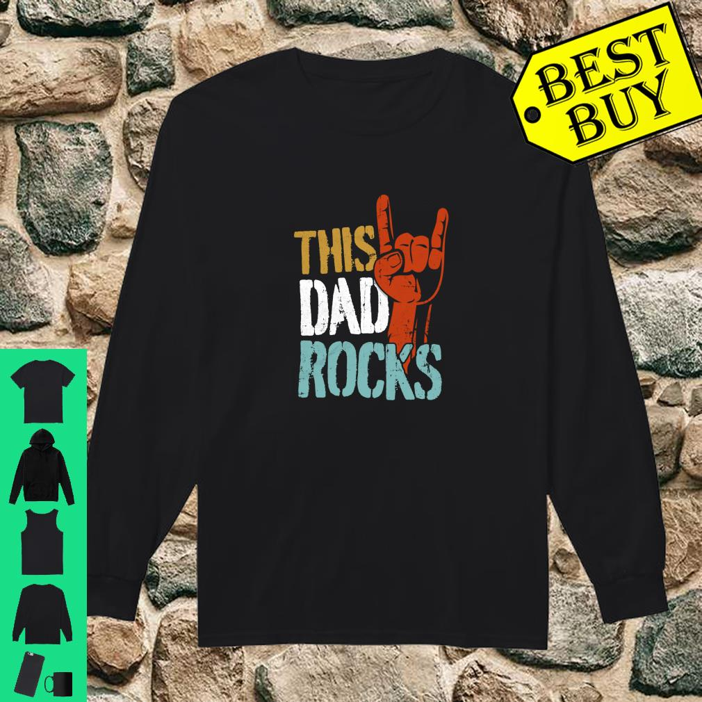 This Dad Rocks for cool Father Rock n Roll Heavy Metal Shirt long sleeved