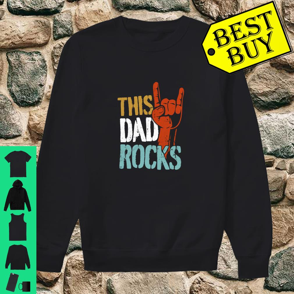 This Dad Rocks for cool Father Rock n Roll Heavy Metal Shirt sweater