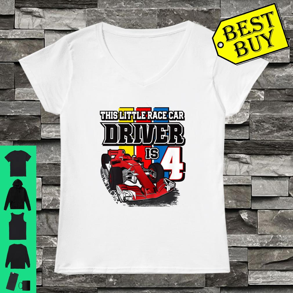 This little race car driver is 4 shirt ladies tee
