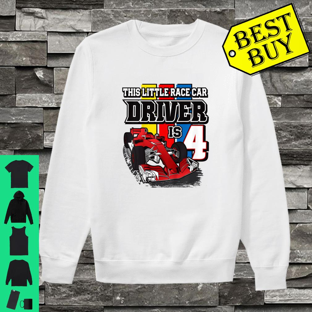 This little race car driver is 4 shirt sweater