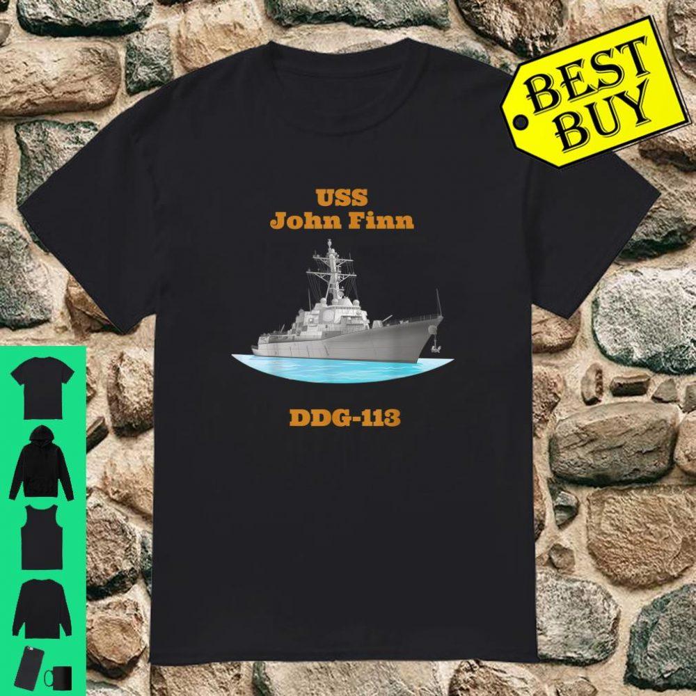 USS John Finn DDG113 Navy Sailor Veteran Shirt